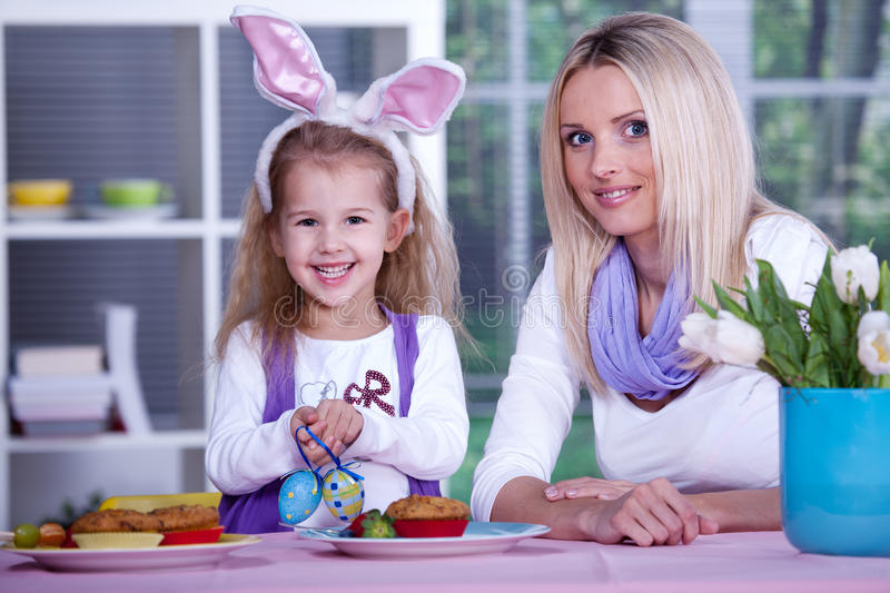 Download Woman with a girl stock photo. Image of easter, mother - 18707406