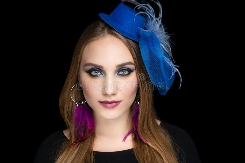 Woman girl, design pink jewellery royalty free stock photo