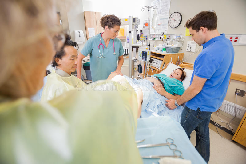 Woman Giving Birth In Hospital Stock Image - Image of ...