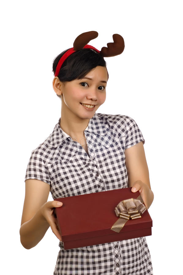 Download Woman Giving Christmas Present Stock Photos - Image: 13199253