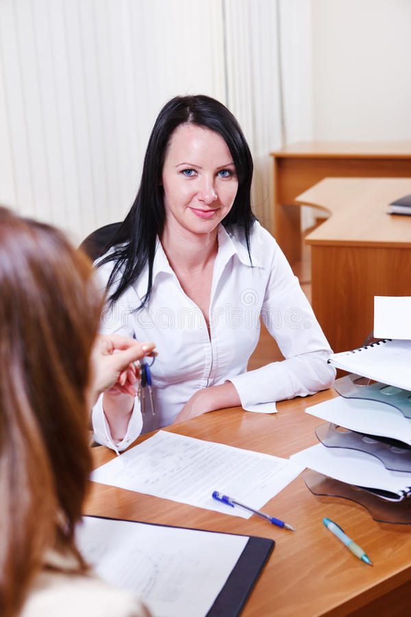 Download Woman giving keys stock image. Image of partner, specialist - 24367975