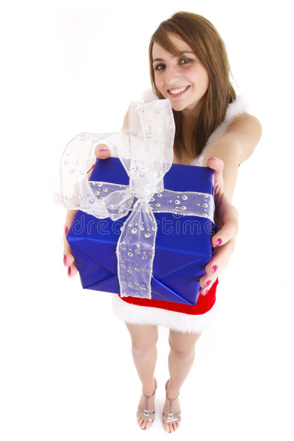 Download Woman Giving Present Stock Image - Image: 17434251
