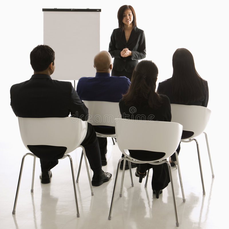 Download Woman giving presentation stock photo. Image of adult - 2052010