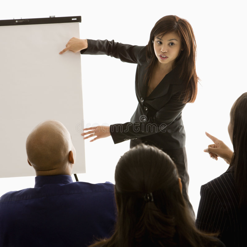 Download Woman giving presentation stock image. Image of meeting - 2052011