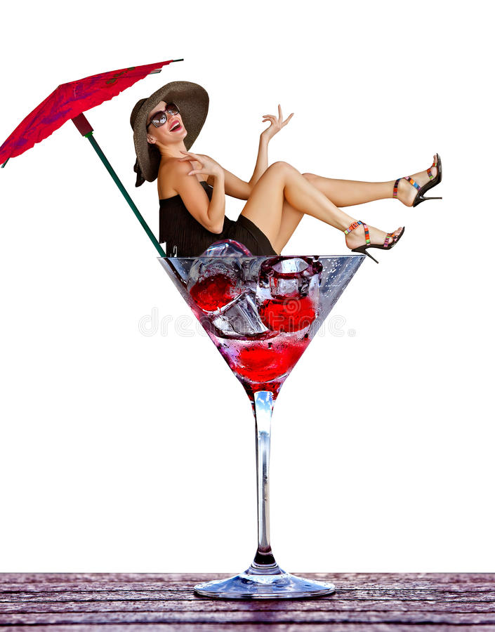 Download A woman in a glass stock photo. Image of entertainment - 24909188