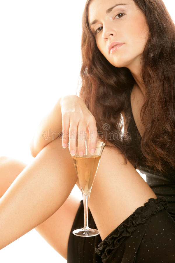 Download Woman With Glass Of Champagne Stock Photo - Image: 11075060