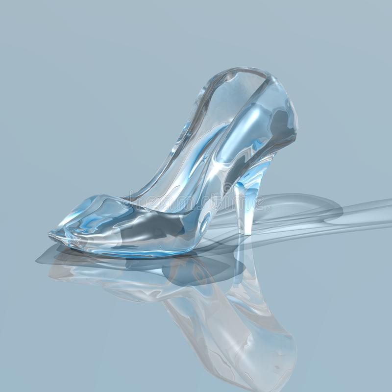 Woman glass shoe royalty free illustration