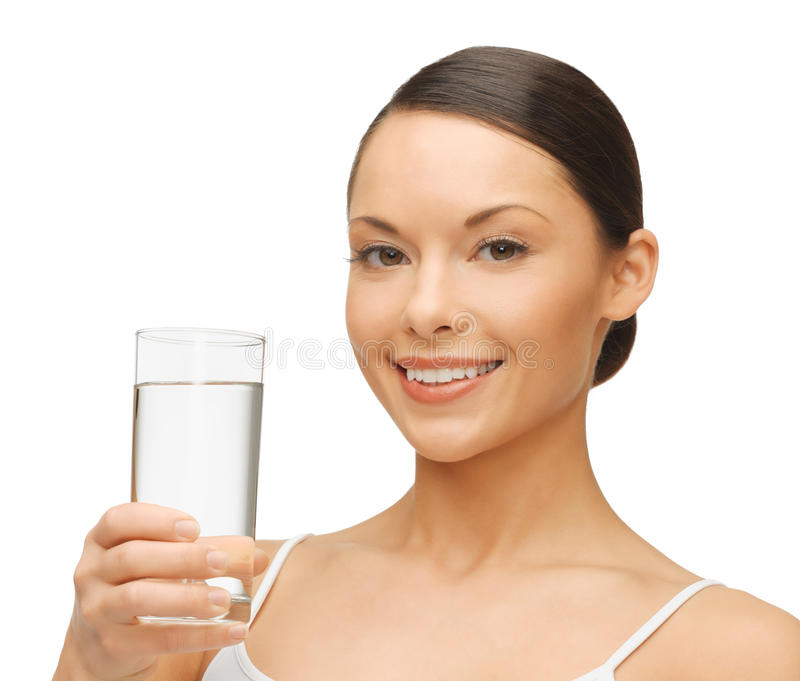 Download Woman with glass of water stock image. Image of girl - 31892963