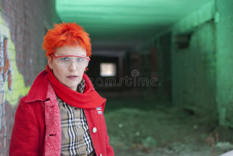 Woman in glasses royalty free stock photo