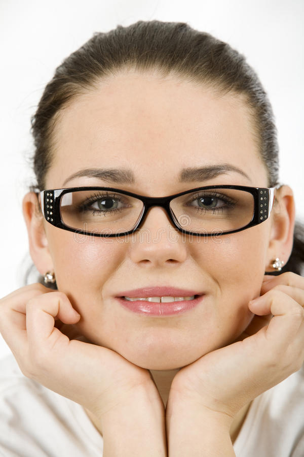 Woman with glasses royalty free stock photography
