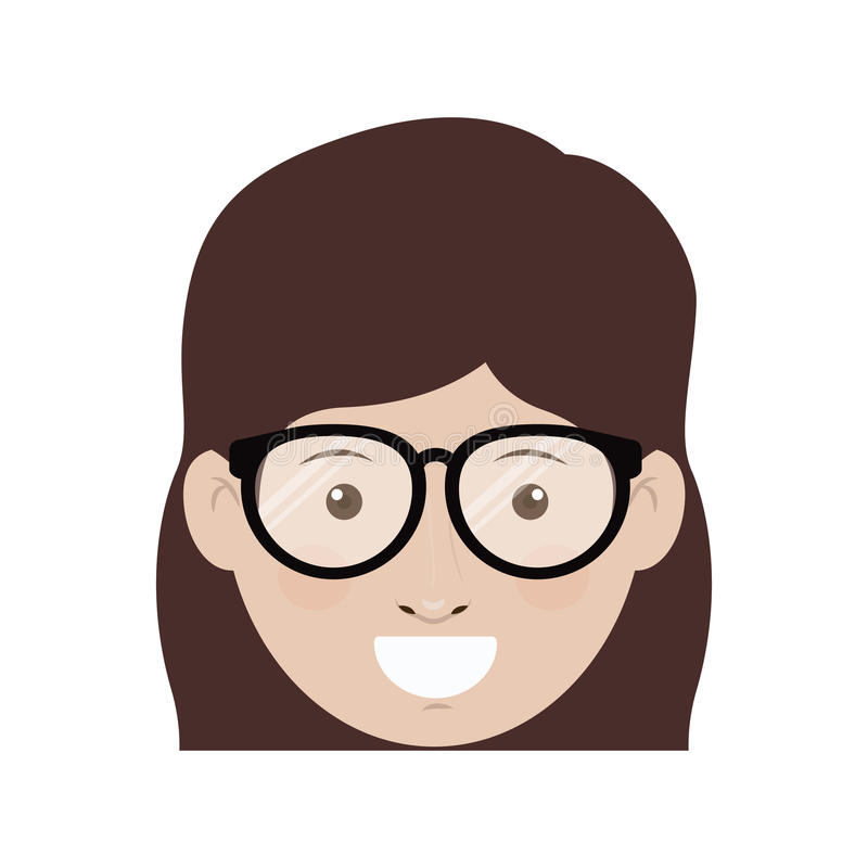 Woman with glasses design stock illustration
