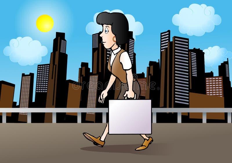 Woman Go To Work Royalty Free Stock Photo