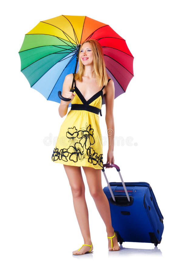 Download Woman Going To Summer Vacation Royalty Free Stock Photos - Image: 27047508