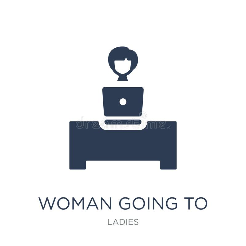 Woman Going To Work icon. Trendy flat vector Woman Going To Work. Icon on white background from Ladies collection, vector illustration can be use for web and vector illustration