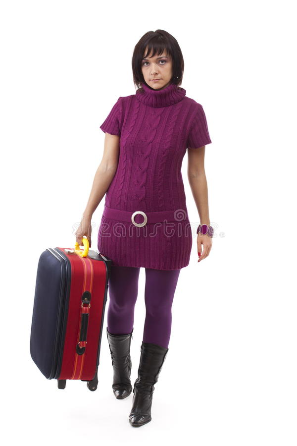 Download Woman going for traveling stock photo. Image of elegance - 17403270