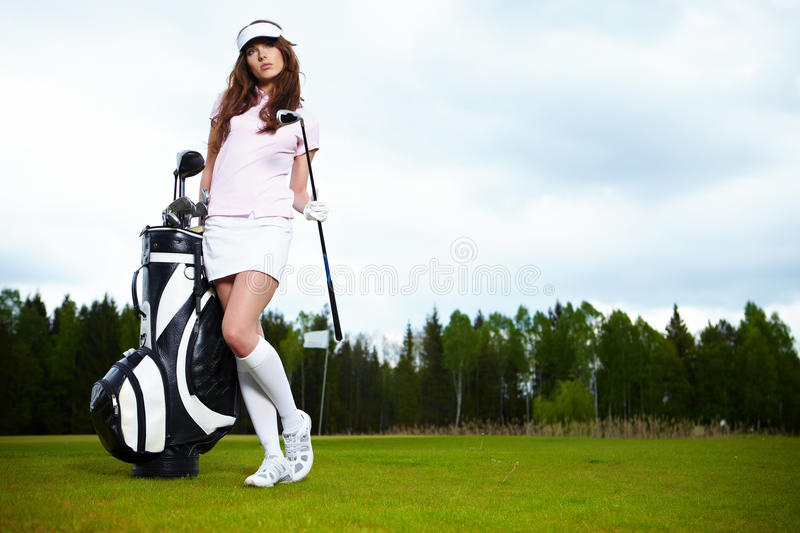 Download Woman with golf equpment stock photo. Image of adult - 19561120