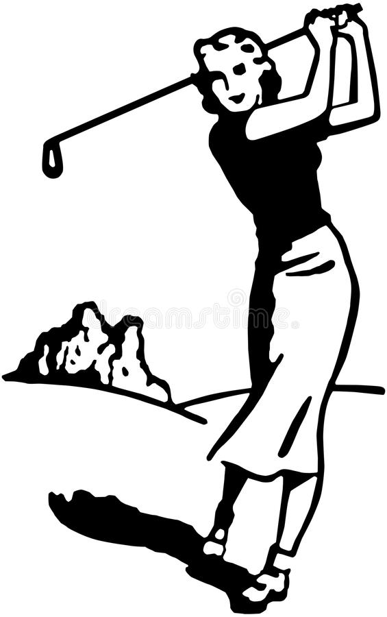 Woman Golfer 4 stock illustration
