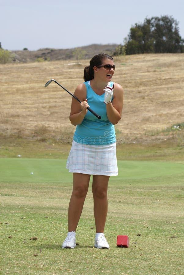 Woman Golfing Royalty Free Stock Image