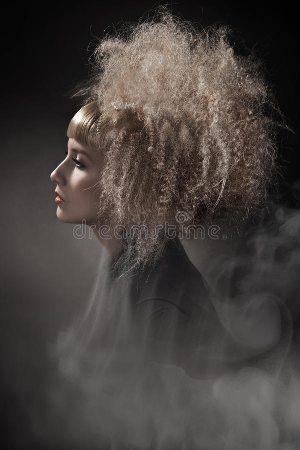 woman with gorgeous hair royalty free stock photography