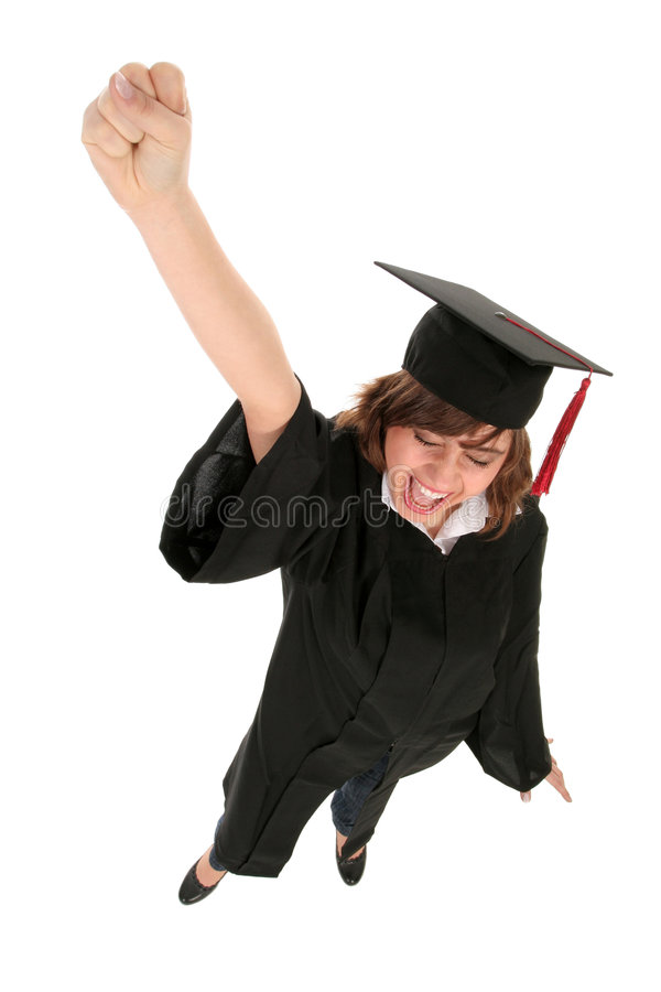 Download Woman in graduation robes stock photo. Image of diploma - 4621486