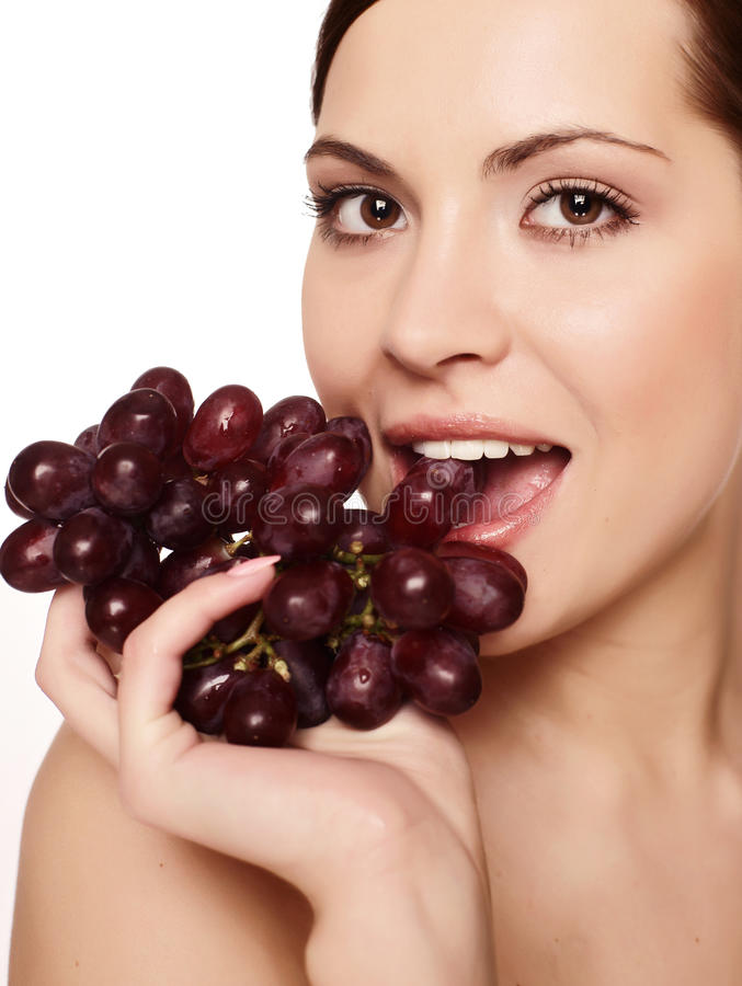 Download Woman with grape stock photo. Image of healthy, diet - 10575730