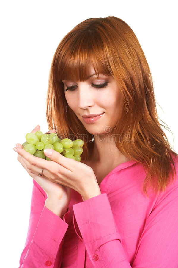 Download Woman with grape stock photo. Image of bunch, girl, natural - 5133192