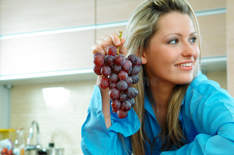 Download Woman with grapes stock image. Image of medical, smile - 29689845