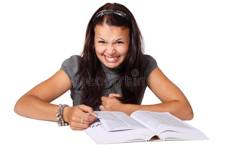 Woman In Gray Puff Sleeve Turtleneck Shirt Sitting At The Table Scanning Book Free Public Domain Cc0 Image