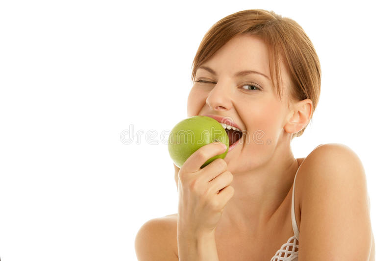 Download Woman with green apple stock photo. Image of diet, beautiful - 11134478