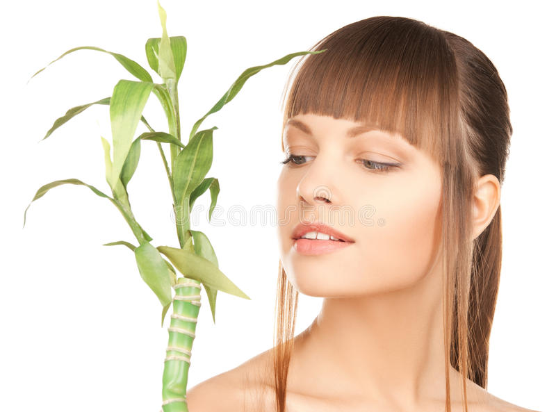 Download Woman with green sprout stock photo. Image of ecology - 29376674