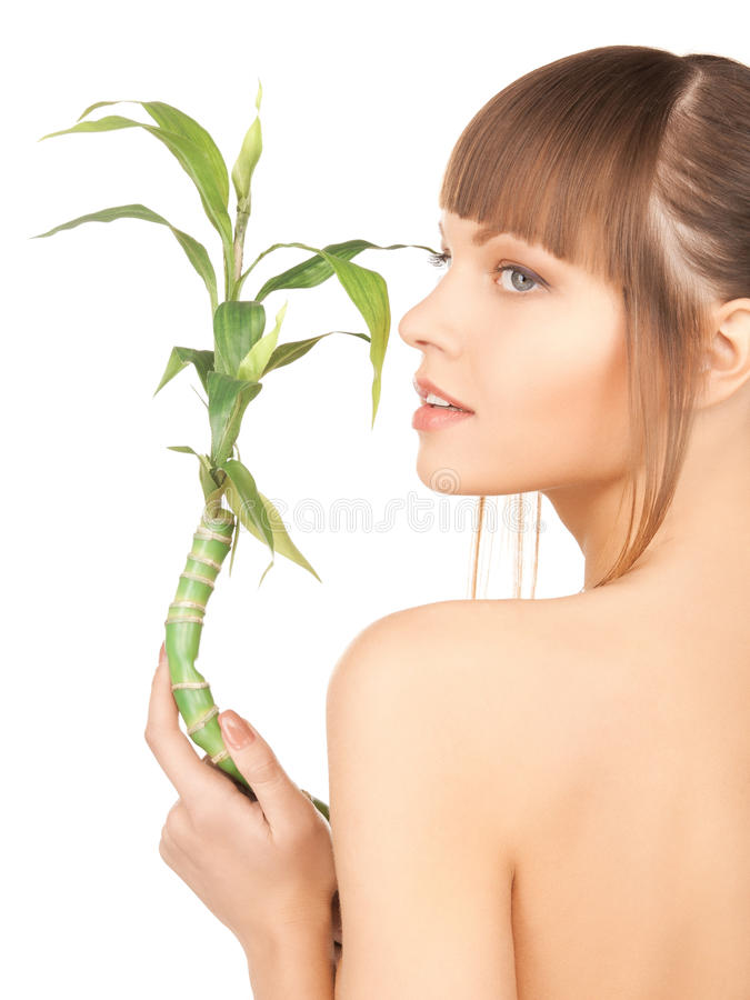 Download Woman with green sprout stock image. Image of beautiful - 29376693