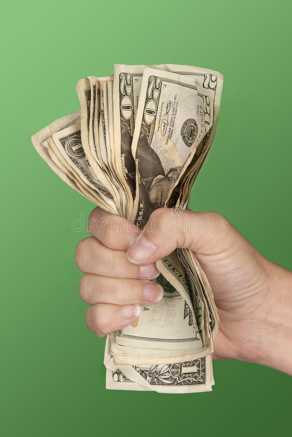Download Woman gripping cash stock image. Image of handful, giving - 8683889
