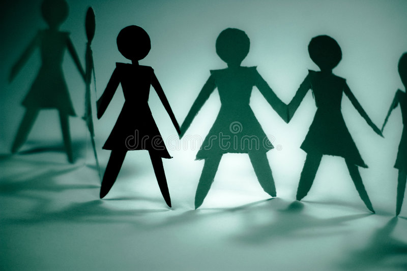 Download Woman group blue stock illustration. Image of people, cheerful - 4639521