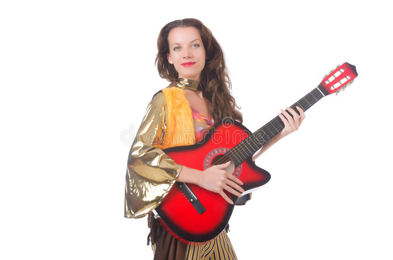 Download Woman with guitar stock image. Image of person, performance - 34469515