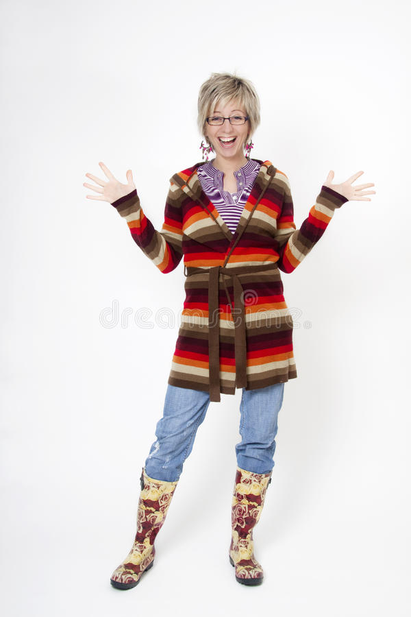 Exceptional Download Woman With Gum Boots Ready For Housework Stock Image   Image Of  Body, Household