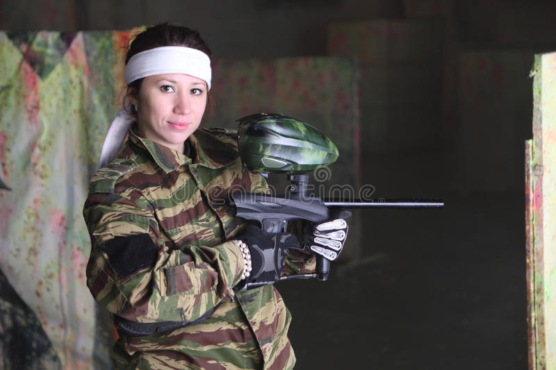 Naked women and paintball guns, sexy bodybuilding girls naked
