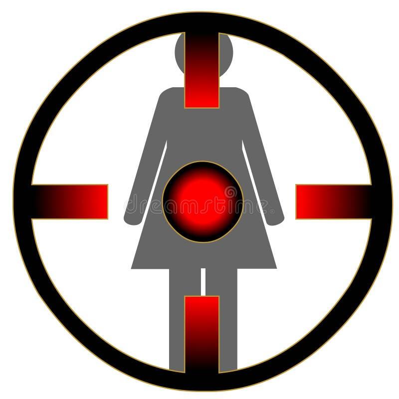 Download Woman at gunpoint stock vector. Image of black, attacking - 28106313