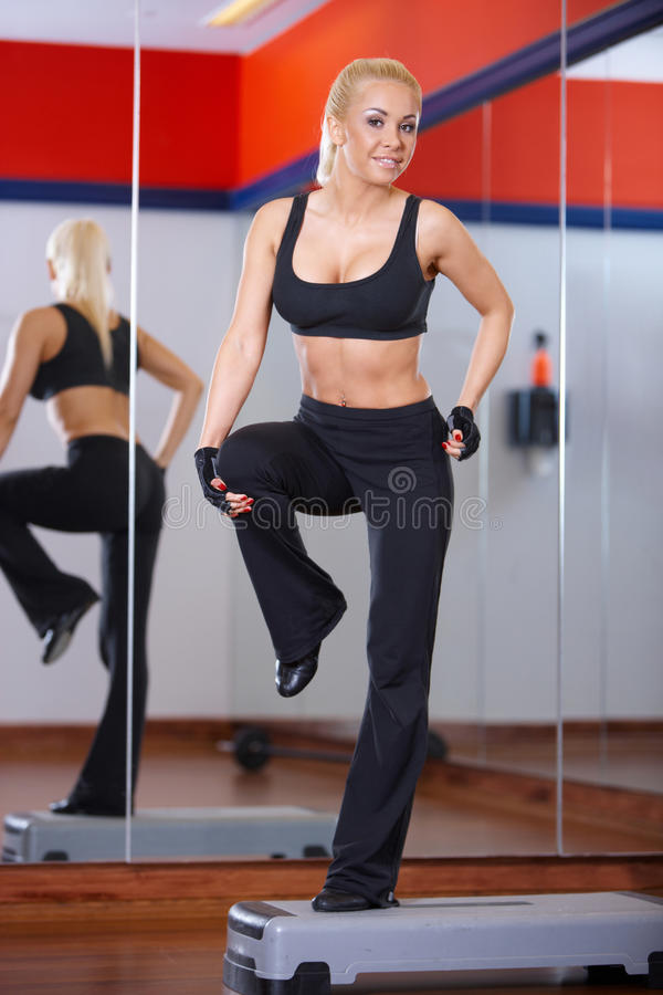 Download Woman at the gym stock image. Image of active, adult - 14855053