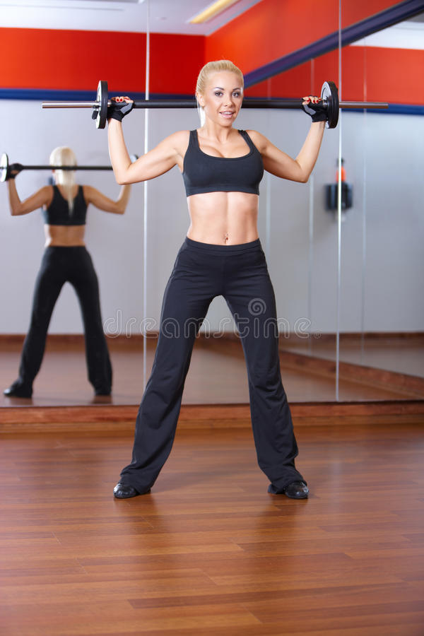 Download Woman at the gym stock photo. Image of exercise, adult - 14855068