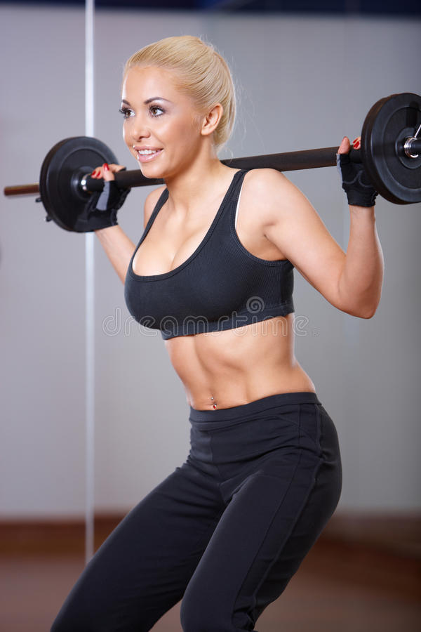 Download Woman at the gym stock photo. Image of happy, beauty - 14855074