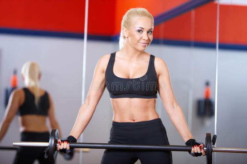 Download Woman at the gym stock photo. Image of equipment, fitness - 14855076