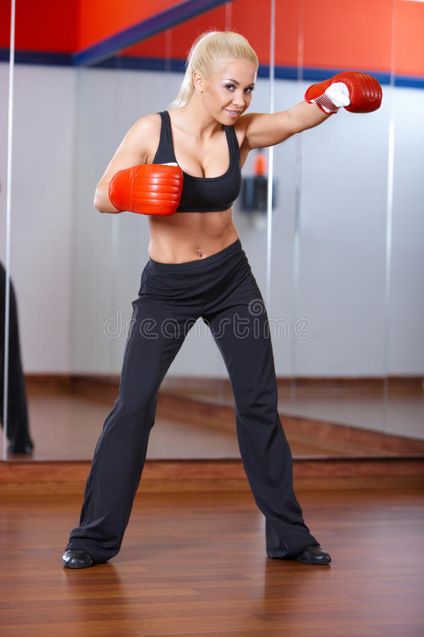 Download Woman at the gym stock image. Image of fitness, healthy - 14855089