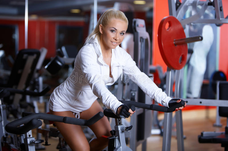 Download Woman at the gym stock image. Image of female, smile - 14855153