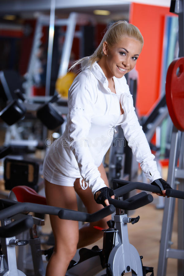 Download Woman at the gym stock photo. Image of people, shape - 14855154