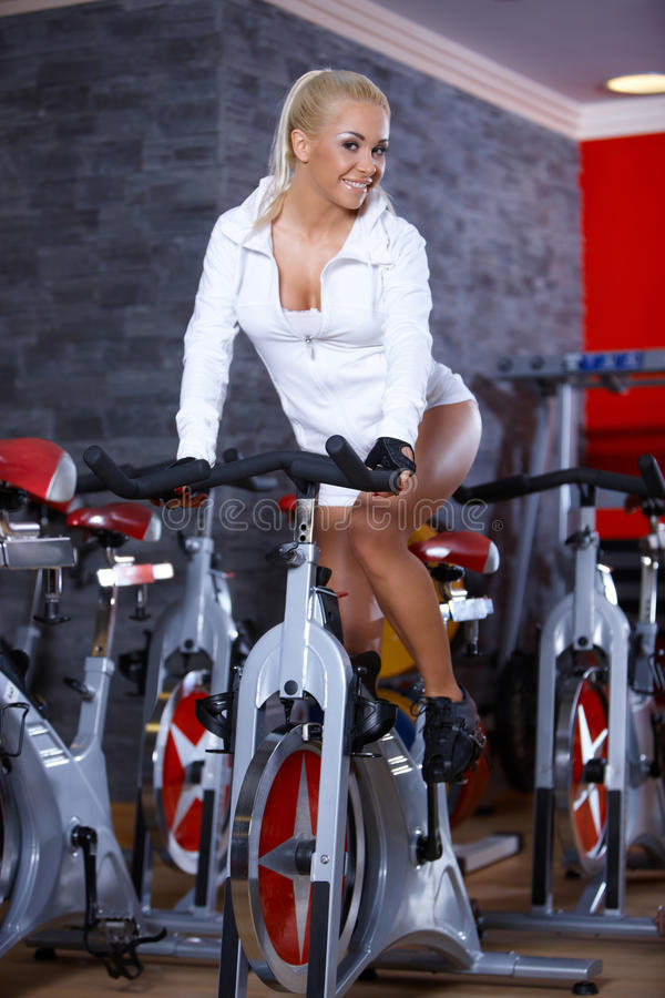 Download Woman at the gym stock photo. Image of sport, shape, healthy - 14855162