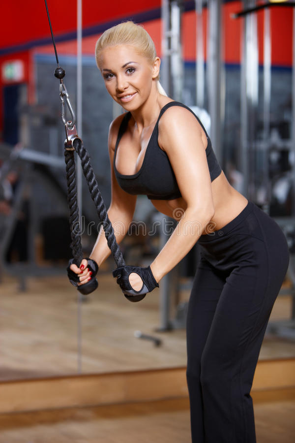 Download Woman at the gym stock photo. Image of exercise, blond - 14855372