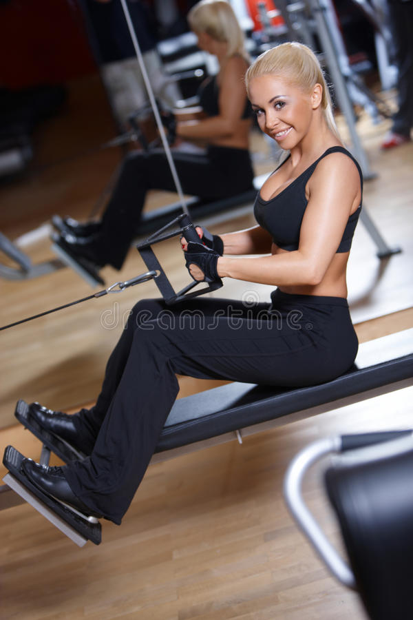 Download Woman at the gym stock photo. Image of exercise, fitness - 14855436