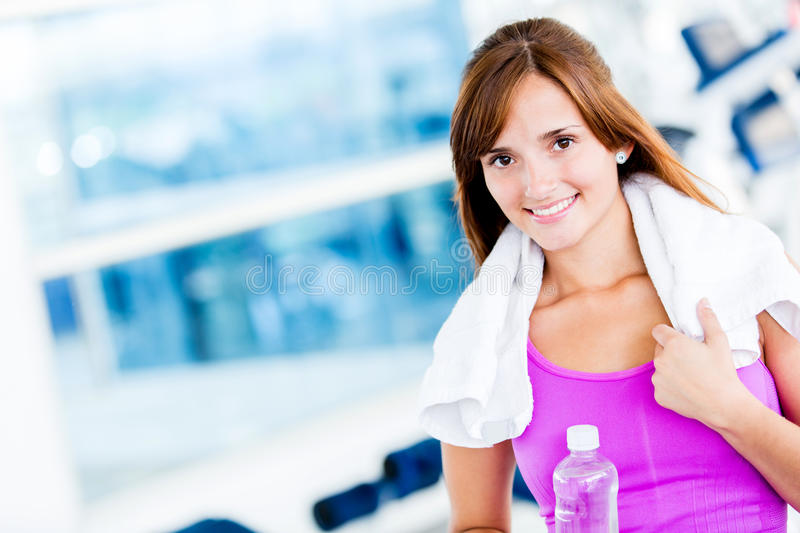 Download Woman at the gym stock image. Image of bodycare, thin - 25779909