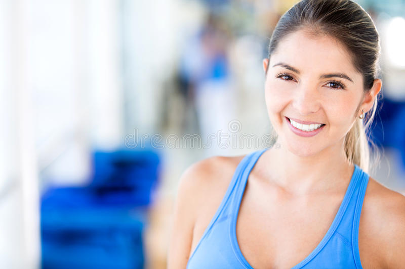 Download Woman at the gym stock photo. Image of girl, latin, exercise - 27596262