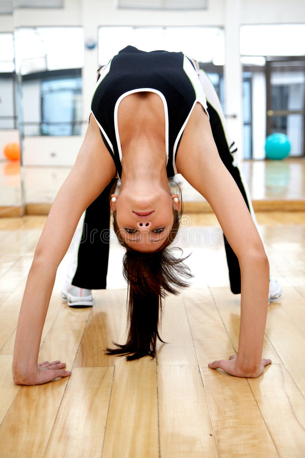 Download Woman at the gym stock image. Image of backarch, casual - 4419643